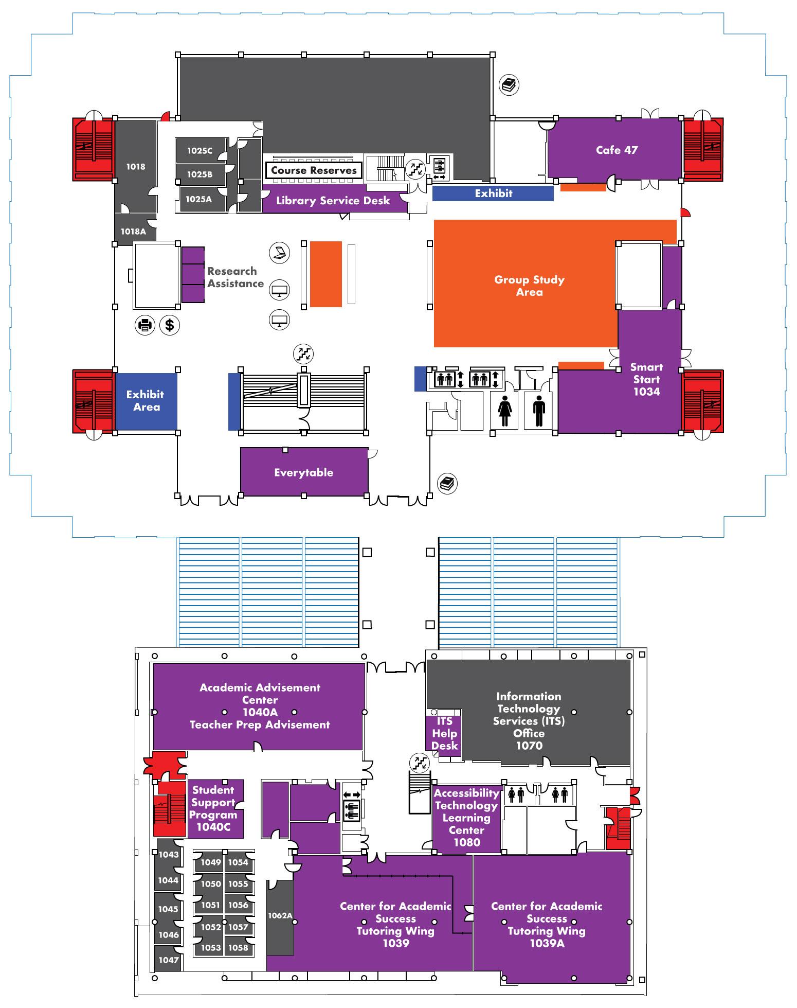 library level 1-JFK Library 1st Floor